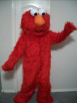 friendly red furry monster for hire in the greater houston area